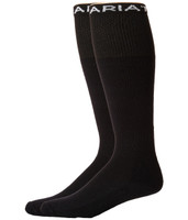 Ariat Men's Over The Calf Sock -  Black