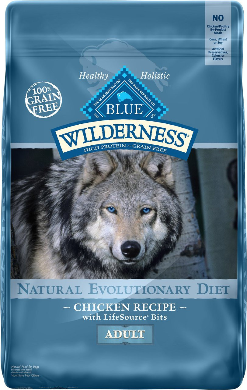Blue Wilderness Grain Free Chicken Recipe Adult Dry Dog Food Chaar