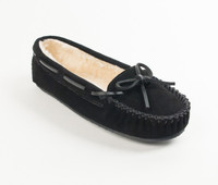 Minntonka Women's Cally Slipper - Black