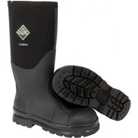 Muck Chore Classic Hi Steel Toe Waterproof Work Boots - Black