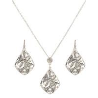 Montana Silversmiths Wind Dancer Feathers Jewelry Set