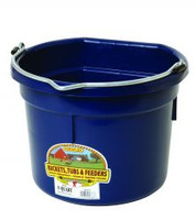 Duraflex 8 Quart Flat Back Plastic Bucket - Navy