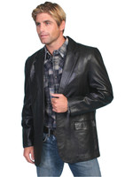 Scully Leather Men's Western Blazer - Black