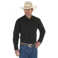 Wrangler Sport Western Snap Shirt - Black