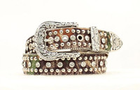 Nocona Women's Camo Studded Belt