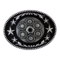 Montana Silversmiths Six Shooter Star Attitude Buckle