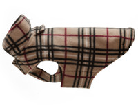 RC Pet Whistler Wear V2 Fleece Dog Coat - Tan Tartan