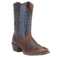 Ariat Men's Sport Outfitter Cowboy Boots - Brown/Navy
