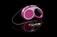 Flexi Vario Pink Retractable Tape Dog Leash