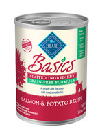 Blue Basic Grain-Free Salmon & Potato Recipe Canned Dog Food 12.5oz