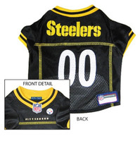 NFL Pittsburgh Steelers Mesh Jersey Dog Jersey