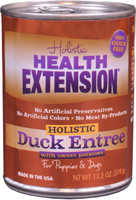 Health Extension Duck Entree with Sweet Potatoes Grain-Free Canned Dog Food 13.2oz
