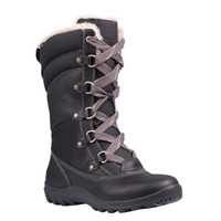 Timberland Women's  Mount Hope Mid Fabric and Leather Waterproof - Black