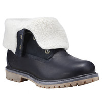 Timberland Women's Authentics Teddy Fleece Waterproof Fold-Down - Navy Blue