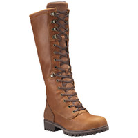 Timberland Women's  Wheelwright Tall Lace Waterproof Boot - Tan