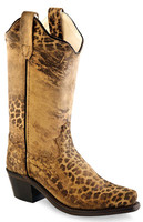 Jama Old West Fashion Western Boots Cheeta Print