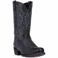 Laredo Men's Bryce Square Toe Cowboy Boots - Black