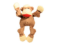 Plush Corduroy Durable Sock Monkey Large Knottie Dog Toy