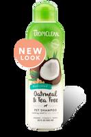 TropiClean Oatmeal & Tea Tree Dog Shampoo