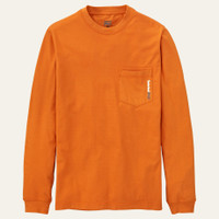 Timberland Men's Pro Long Sleeve Base Plate Wicking T-Shirt - Orange