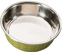 Soho Basketweave Dish - Green
