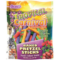 Tropical Carnival Baked Pretzel Sticks Small Animal Treats