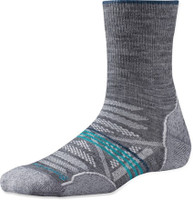 SmartWool Women's PhD Outdoor Light Mid Crew Socks - Gray