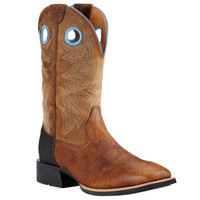 Ariat Men's Heritage Cowhorse Square toe Western Boots - Tan