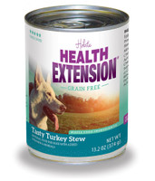 Health Extension Grain Free Tasty Turkey Stew Canned Dog Food 13.2oz