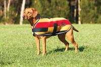WeatherBeeta WeatherBeeta Double Bonded Fleece Dog Coat - Gold/Whitney Stripes