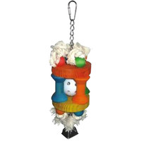 Happy Beaks Wiffle Ball In Solitude Bird Toy