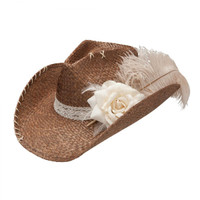 Women's Ellie Mae Brown Cowboy Hat