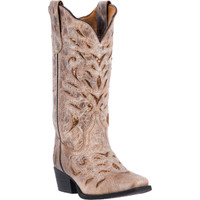 Laredo Women's Roxanne Gold Metallic Cowboy Boots - Tan