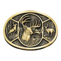 Montana Silversmiths Deer Heritage Attitude Belt Buckle