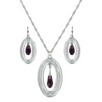 Montana Silversmiths Framed Evening Mist Jewelry Set