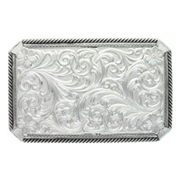 Montana Silversmiths Black Rope and Pinpoints Buckle