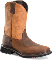 Double H Men's HH Men's Sq Toe CT Pull On Brn