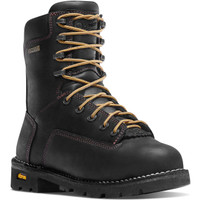 "Danner Men's Gritstone 8"" Black Alloy Toe Waterproof AT Safety Toe Black"