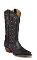 Justin Women's Vashti  Cowboy Boots - Black
