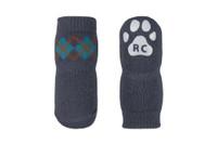 Pawks Dog Socks Slate Argyle