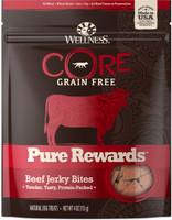 Wellness Core Pure Rewards Grain-Free Beef Jerky Bits Dog Treats, 4-oz