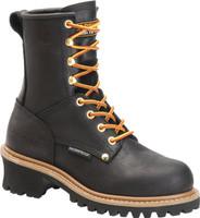 Carolina Women's Elm Logger 8in Steel Toe Work Boots - Black