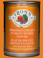 Fromm 4Star Shredded Chicken in Gravy Entrée 12oz Canned Dog Food