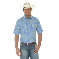 Wrangler Men's 20X® Advanced Comfort Competition Shirt - White/Navy