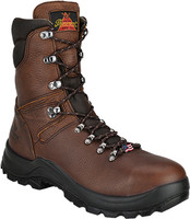 "Thorogood Men's USA  8"" Omni Waterproof Safty Toe Work Boots - Brown"