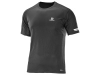Salomon Men's Agile Short Sleeve TEE - Black