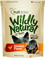 Fruitables Wildly Natural Chicken Flavor Cat Treats 2.5-oz
