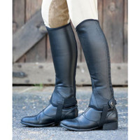 Dublin Flexi Leather Half Chaps  - Black