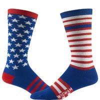 Wigwam Women's Freedom Socks - Read-White-Blue