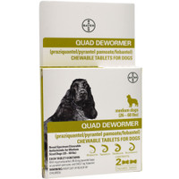 Bayer Quad Dewormer 2-pack Medium dog